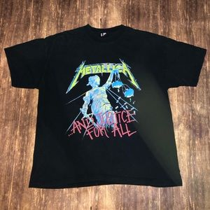 Vintage 1994 Metallica And Justice For All T-shirt